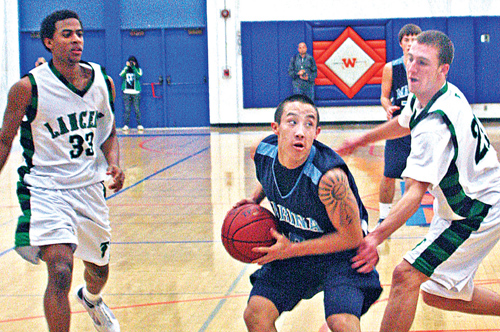 Despite a one-sided loss, Garrett James ends his tenure at Marina leading by example. JORDAN IKEDA/Rafu Shimpo