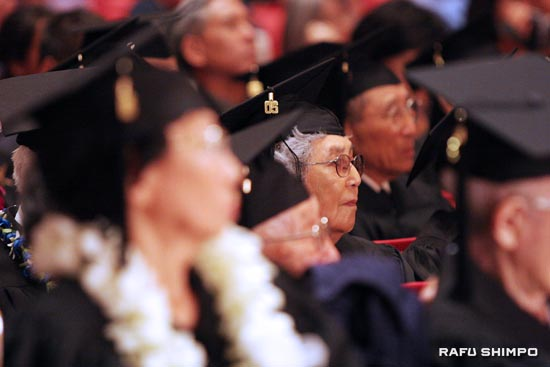 The University of California will grant honorary degrees to hundreds of Japanese Americans whose studies at UC were interrupted when they were sent to internment camps during World War II. (MARIO G. REYES/Rafu Shimpo)