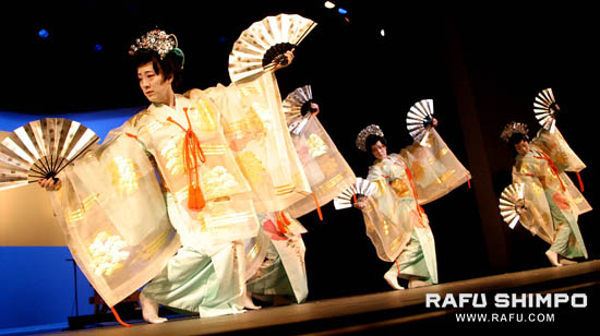 Dancers perform Nihon Buyo during the award ceremony held at the Japan America Theater.