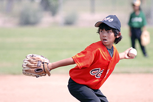 Lefty Sean Iida pitches for the Pee Wee Middle Seyo All-Stars.