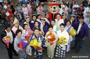 The dance instructors were acknowledged for all their hard work to make the Nisei Week parade and ondo a success.