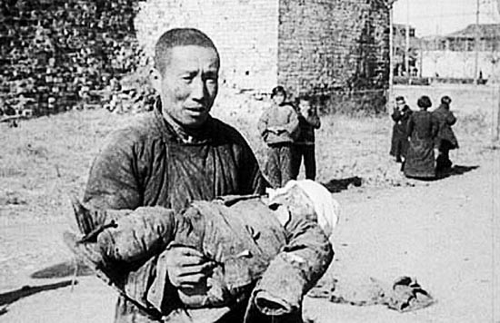 "A still from the documentary ""Nanking"" shows the indiscriminate horror that war can inflict on the innocent as well as combatants. (HBO Films)"
