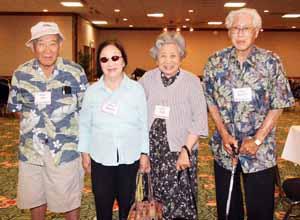 Akio, Sumiye, Lida Konoshima with Kurato Nakamoto, who  haven't seen  each other in 65 years.