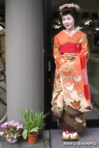 Chifuku, a maiko, entertains guests in the Asakusa district in a centuries-old tradition; while the maids of Cafe  Mai:Lish in Akihabara (below) represent the new face of Tokyo's otaku culture.