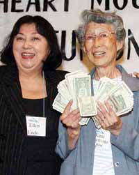 Kishi was the winner, claiming the $175 prize from game leader Ellen Endo.