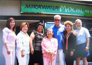 """Kunitsugu was interviewed by Huell Howser along with Frances Hashimoto for an episode of """"Visiting ... with Huell Howser"""" devoted to Mikawaya Bakery and Mitsuru Cafe in 2007."""