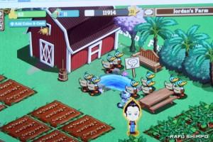 Virtual me, on my virtual farm on Facebook.