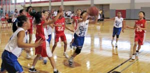 FOR Wildcats take on the eventual champion WLA Shooting Angels in the 4th grade girls - Red division.