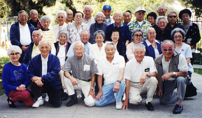 A who's who of the Cougar Juniors during a get-together in 2001.