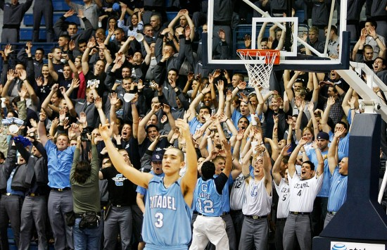 Sophomore shooting guard Cosmo Morabbi hopes to bring the student body of the Citadel to their feet this season.