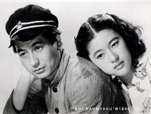 「青い山脈」で池部良(左)と共演する杉葉子さん