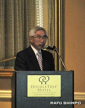 「HICAREの活動内容」を紹介する広島赤十字・原爆病院の土肥院長
