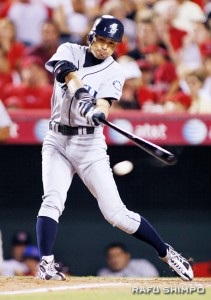 Ichiro in the two hole? (MARIO G. REYES/Rafu Shimpo)