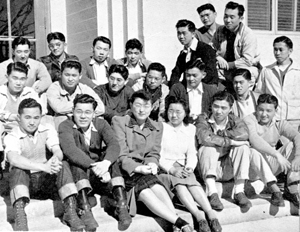 A photo of the Cal Aggie Japanese Students Club members from the 1942 El Rodeo yearbook of the College of Agriculture at Davis (current UC Davis). (Courtesy of UC Davis)
