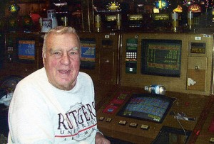 Horse's friend John Kimak at the keno slot machines at the California Hotel in Las Vegas.