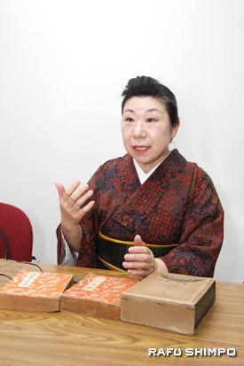 「日本の良さを知り、日本人としての誇りを持ち、世界中どこへ行っても堂々と胸を張っていてほしい」と話す愛鶴さん