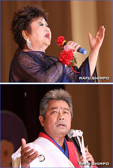 各組のとりを務めるチャンバレン・ルミさん(写真上)と藤田茂さん(同下)