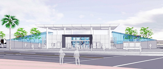 A rendering of the First and Central station of the Metro Regional Connector.
