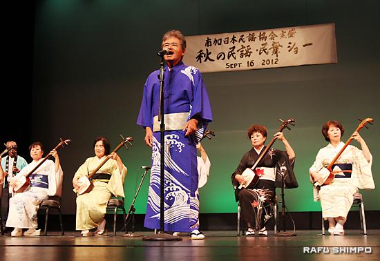 7団体が民謡と民舞を披露:地唄と踊りに拍手喝采 - Rafu Shimpo