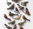 "Bird Pins, Himeko Fukuhara and Kazuko Matsumoto, scrap wood and paint, National Japanese American Historical Society. From ""The Art of Gaman: Arts and Crafts from the Japanese American Internment Camps 1942-1946,"" © 2005 by Delphine Hirasuna, Ten Speed Press, Berkeley. Photo by Terry Heffernan."