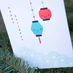 Impress friends this holiday with a whimsical hand printed greeting card. (Papermum Press)