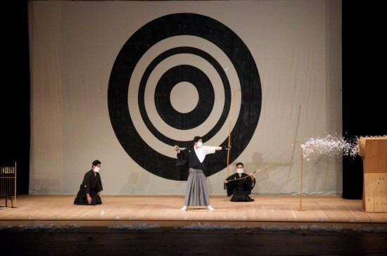 The ritual shooting of an arrow is a Japanese New Year's tradition.