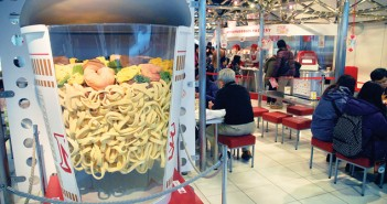Visitors to the Momofuku Ando Instant Ramen Museum in the Osaka Prefecture city of Ikeda can create their own custom version of Cup Noodles. (Photos by MIKEY HIRANO CULROSS/Rafu Shimpo)