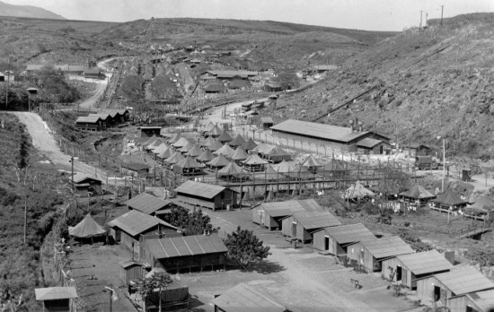 Although there was no mass incarceration of Japanese Americans in Hawaii, many were sent to the Honouliuli Internment Camp on Oahu. (JCCH)