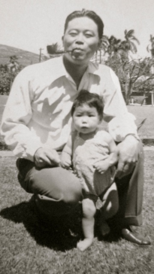 Arthur Komori and his daughter Rosemary.