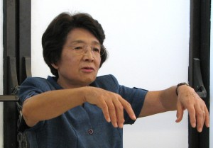 Kikuko Otake described how survivors walked like ghosts, their arms outstretched with melted skin hanging from the arms and hands.