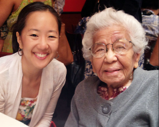 Lora Nakamura, with her grandmother Mitsuko Yamamoto, a Kibei Nisei who was interned at Heart Mountain.