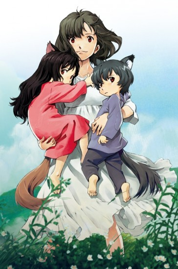 """Wolf Children"" is the story of Hana, her daughter Yuki and her son Ame."