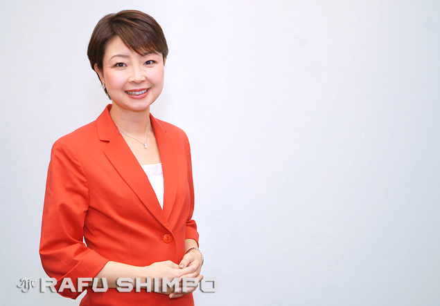 NHK news anchor Yuko Aotani visited the KCET studios in Burbank last week, to help launch the 24-hour NHK World channel.