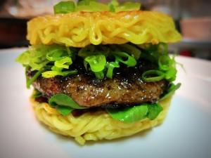 Keizo Shimamoto will prepare 500 of his coveted Ramen Burgers for the kite festival.