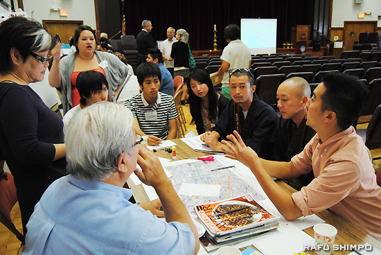 開発が進む中、どのように小東京のアイデンティティーを維持していくか話し合う「コミュニティー・アイデンティティー・文化芸術」テーブル
