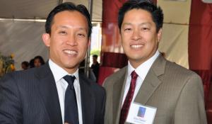 David Chiu, president of the San Francisco Board of Supervisors, and Jon Osaki, executive director of Japanese Community Youth Council.