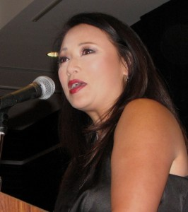 Emcee Denise Dador from ABC7 Eyewitness News.