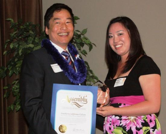 Erwin Furukawa of Southern California Edison and PSW Regional Director Stephanie Nitahara