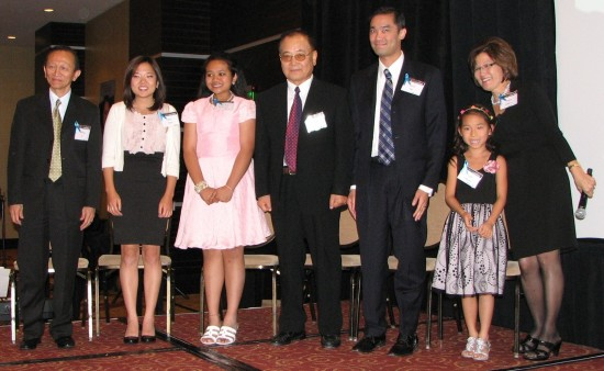 From left: Bone marrow recipients William Ko, Jenny Hirata, Celine DeGuzman, Seung Hong, David Bao, Kaili Nguyen and Nancy Sakakura.