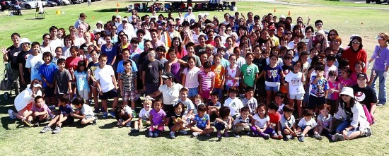 Orange Coast Gakuen students at the 2013 Undokai.