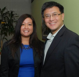 Artesia City Council candidate Melissa Ramoso with State Controller John Chiang.