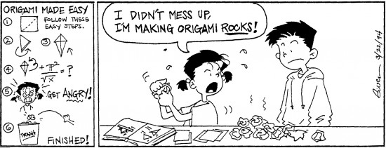 "Gwen Muranaka began a regular comic strip with ""Small Kid Time."" This one is from 1994."