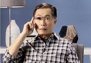 "George Takei tries out Google Glass in the first installment of ""Takei's Take."""