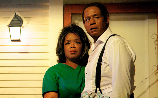 "Oprah Winfrey and Forest Whittaker in a scene from Lee Daniels' ""The Butler."""
