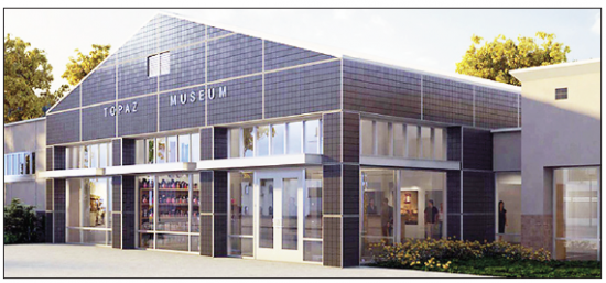A rendering of the Topaz Museum, located near Delta, Utah.