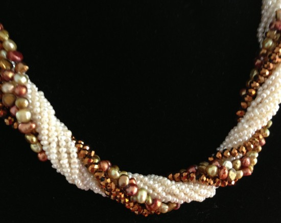 """Triple Twist"" is three separate 40""-long pearl necklaces in one, a top-selling design from Judy Lee of Corona Del Mar. (Courtesy Shanghai Roots)"