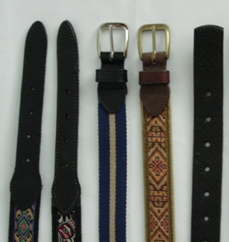 Unisex belt selections vary from simple to fabric enhanced styles. (Courtesy Waisted Belt Company)