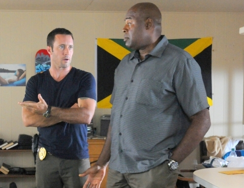 "Alex O'Loughin and Chi McBride in a scene from ""Hawaii Five-0."""