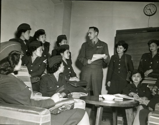Nisei women soldiers, Army of Occupation in Japan. Image credit: National Archives