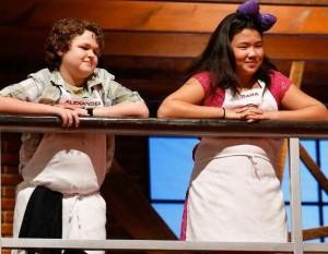 "Alexander Weiss and Dara Yu, finalists on ""Master Chef Junior."""